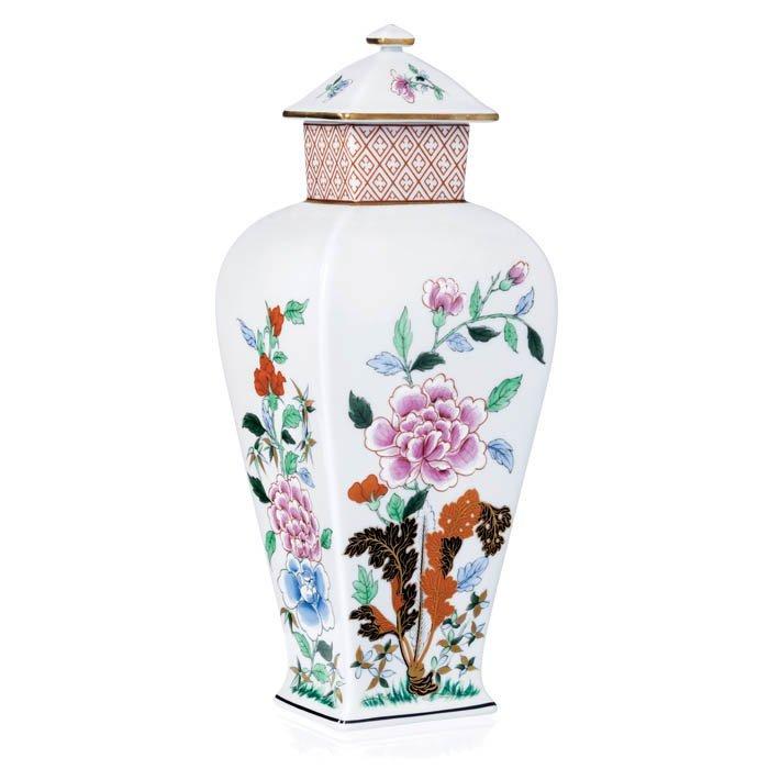 Pot with lid in porcelain Vista Alegre