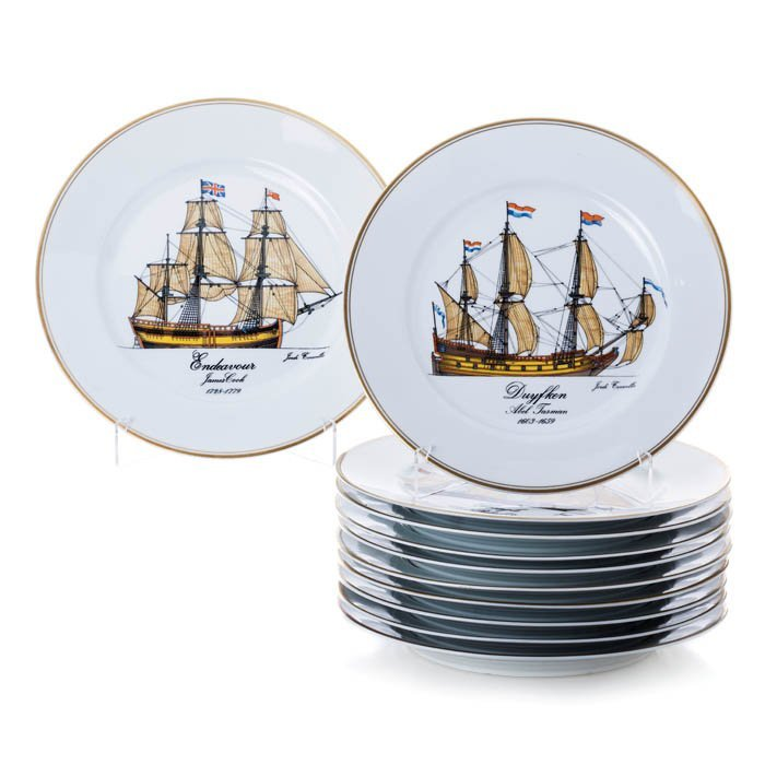 Set of plates 'The Ships of the Discoveries' from