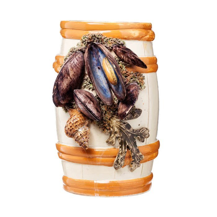 Vase 'barrel with mussels' in Fonte Nova faience