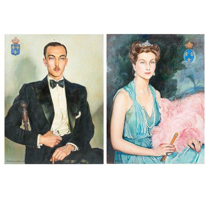 EDUARDO MALTA (1900-1967) - Counts of Paris' portraits