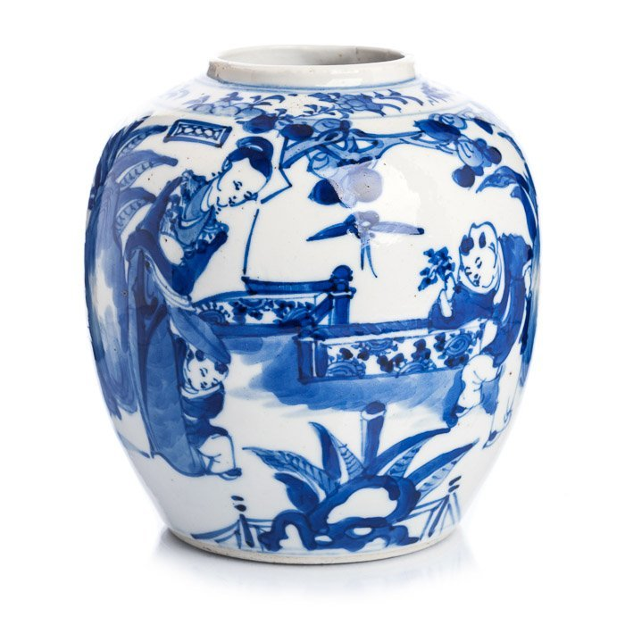 Vase with 'children' in Chinese porcelain, Guangxu