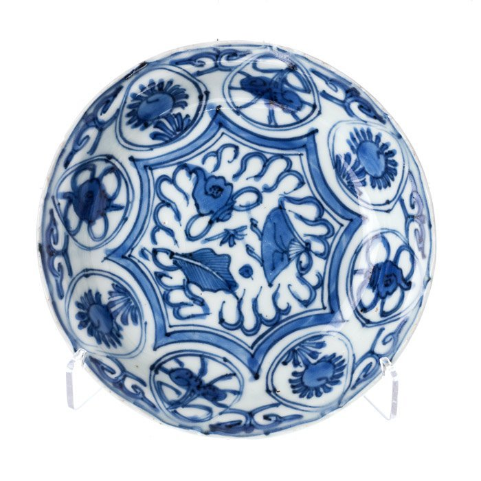 Small saucer in Chinese porcelain, Wanli