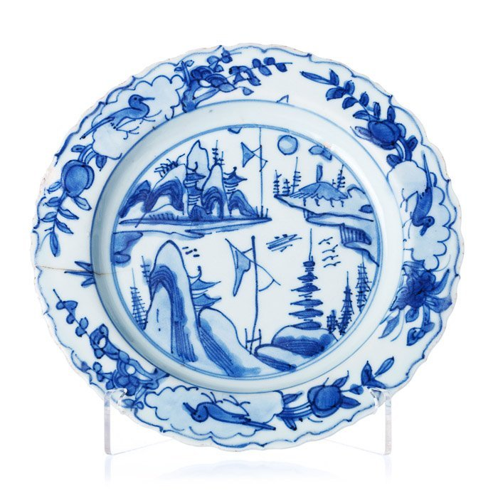 Saucer in Chinese porcelain, Ming, Wanli