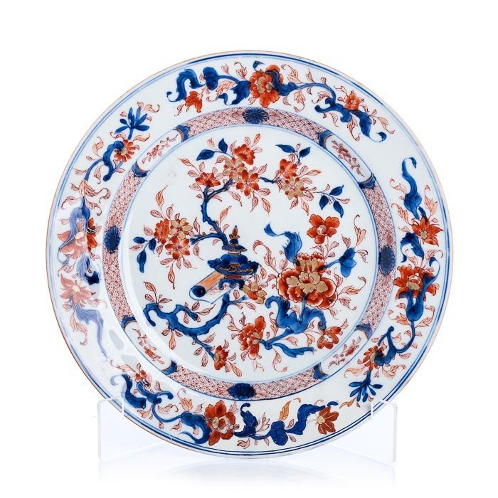 Plate in Chinese export porcelain, Kangxi