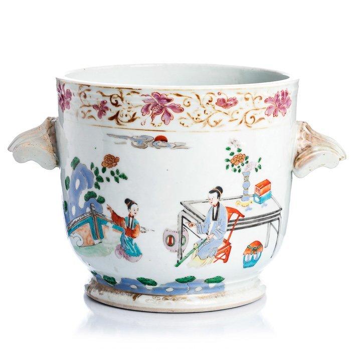 Cooler in Chinese porcelain, Qianlong