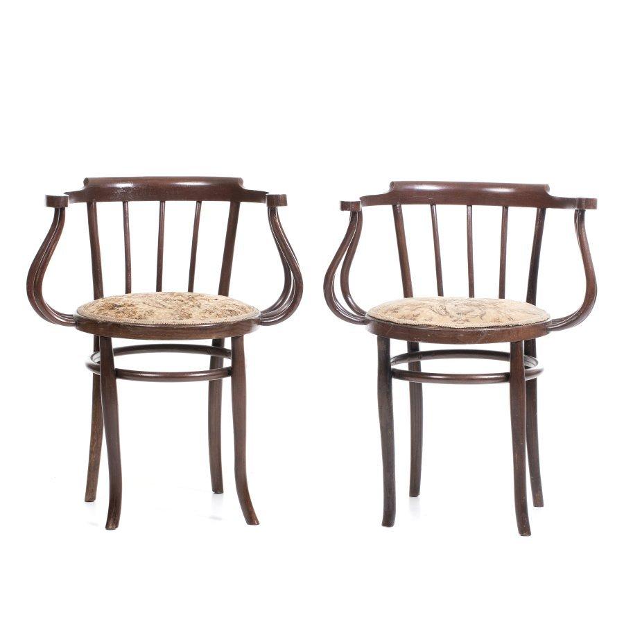 THONET (19th/20th century) (attr.) - Pair of armchairs