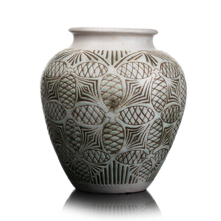 JOSEPH MOUGIN (1876-1961) - sandstone vase, Art Deco