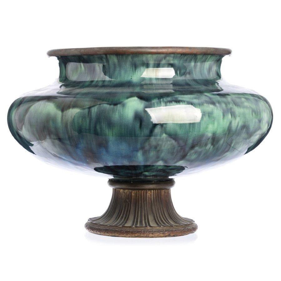 CLEMENT MASSIER (1844-1917) (attr.) - Bowl with bronze