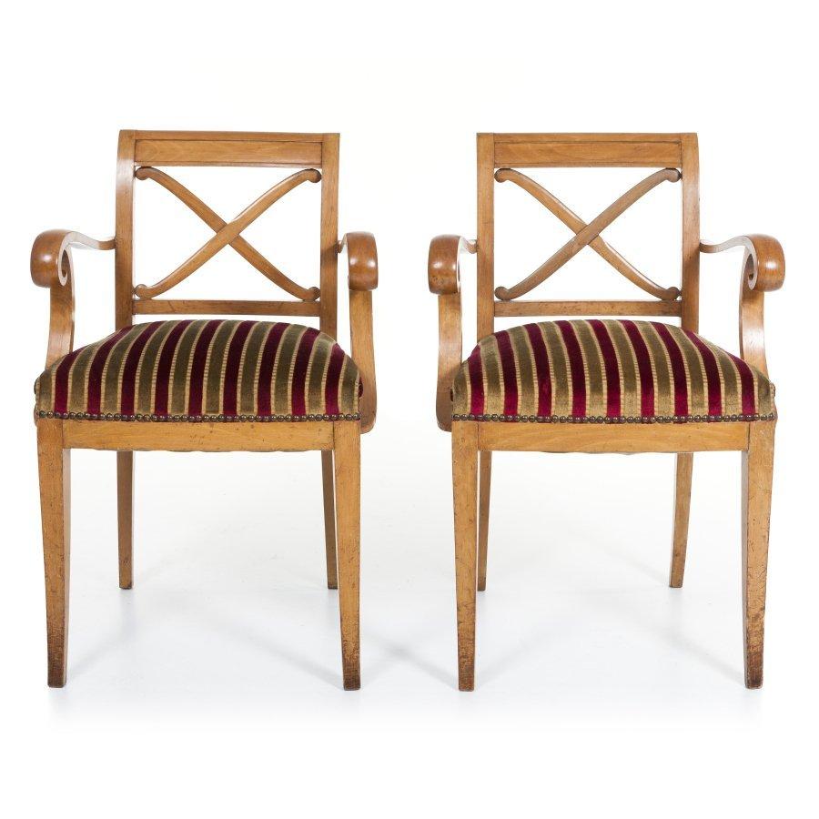 PIERRE LARDIN (1902-1982) - Set 4 chairs & 4 armchairs