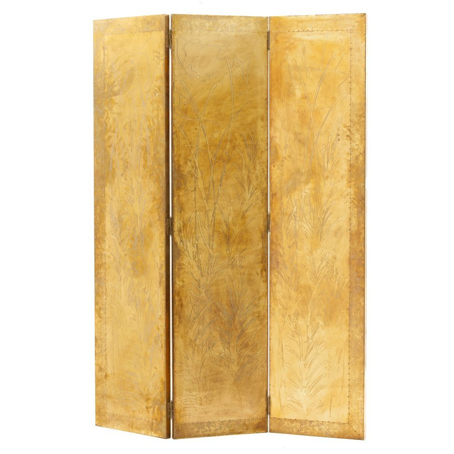 RODOLFO DUBARRY (20th/21st ) - 3 panel folding screen