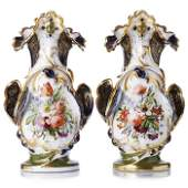Pair of French porcelain vases Old Paris