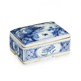 Rectagular Box In Chinese Porcelain, Ming