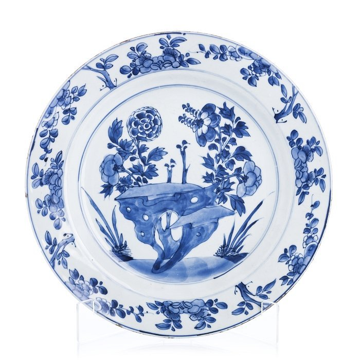 Plate in Chinese porcelain, Kangxi