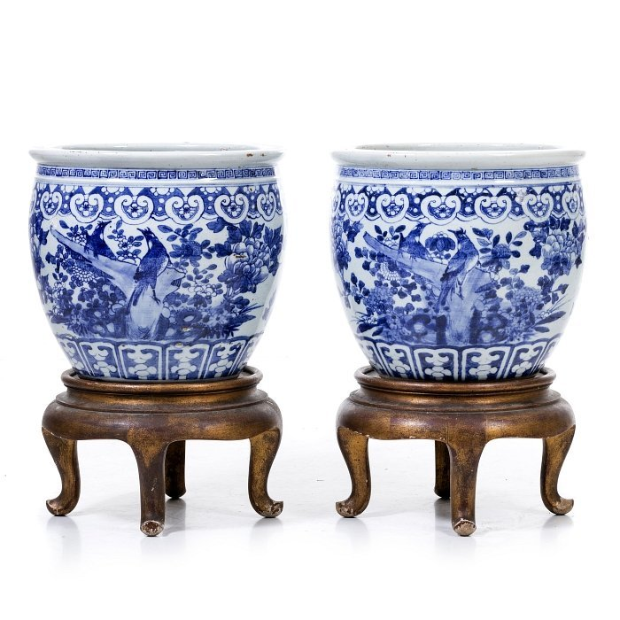 Pair of vases in Chinese porcelain, Tongzhi