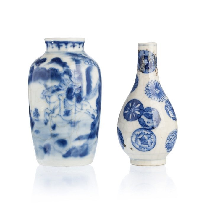 Two miniature vases in Chinese porcelain, Guangxu