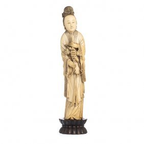 Guanyin In Ivory, Chinese, Guangxu