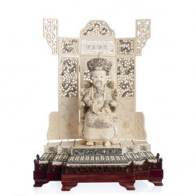 Chinese Emperor In Ivory