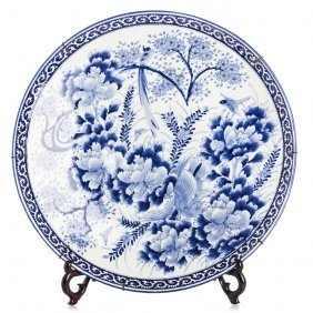 Large Plate In Japanese Porcelain