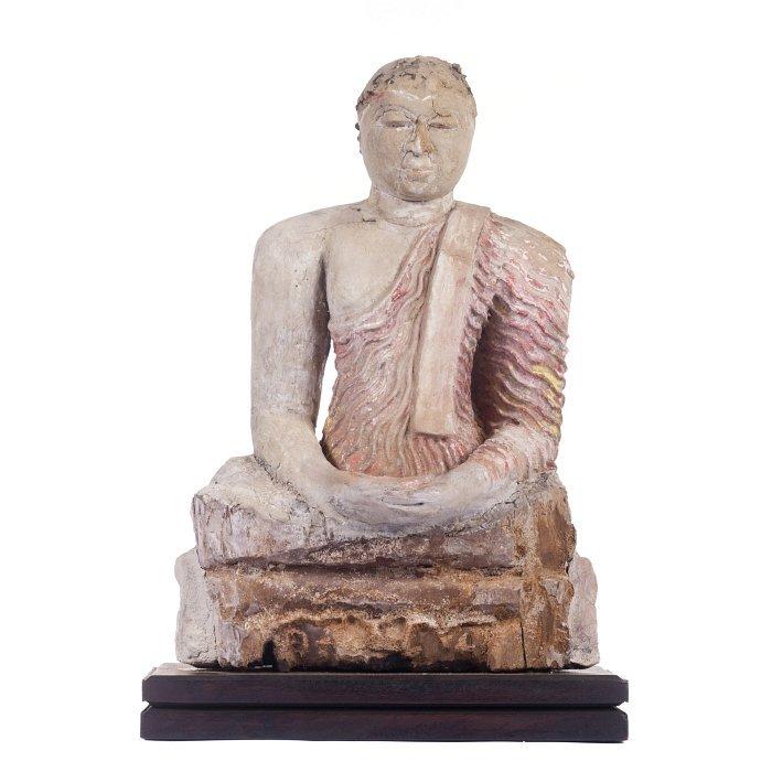 Bodhisattva in terracotta, Ceylon
