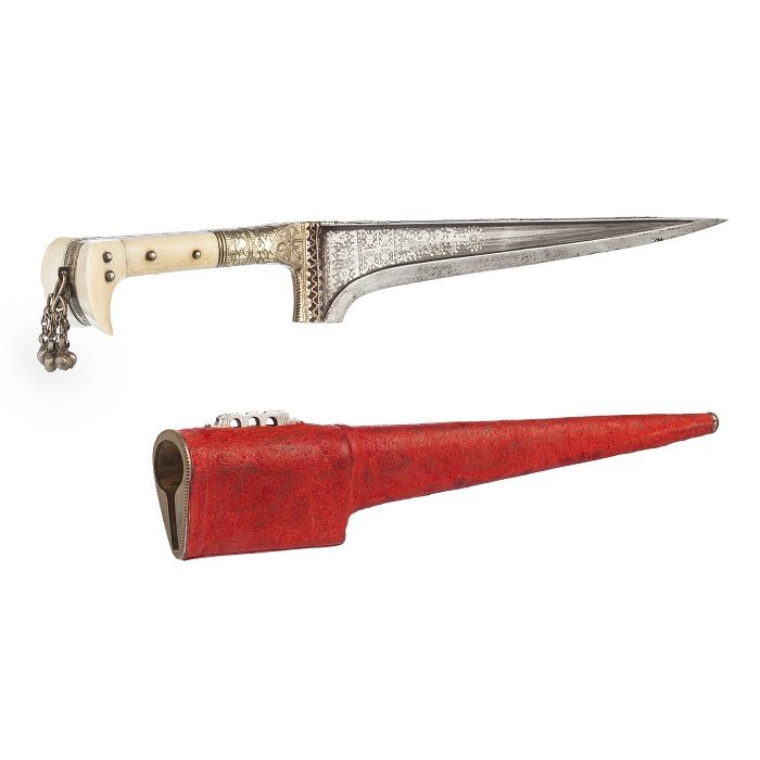 Pesh-Kabs knife with grip in ivory