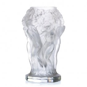 Vase With 'bacchantes' In Bohemian Glass