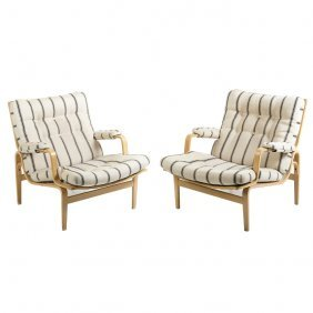 Bruno Mathsson (1907-1988) - Pair Of Armchairs 'in