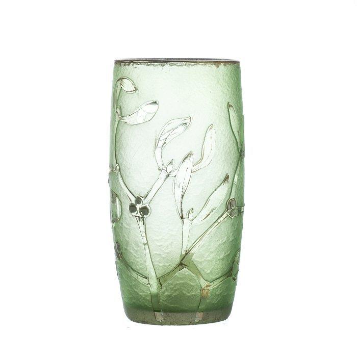 DAUM NANCY - Cameo Glass Vase 'Holly'