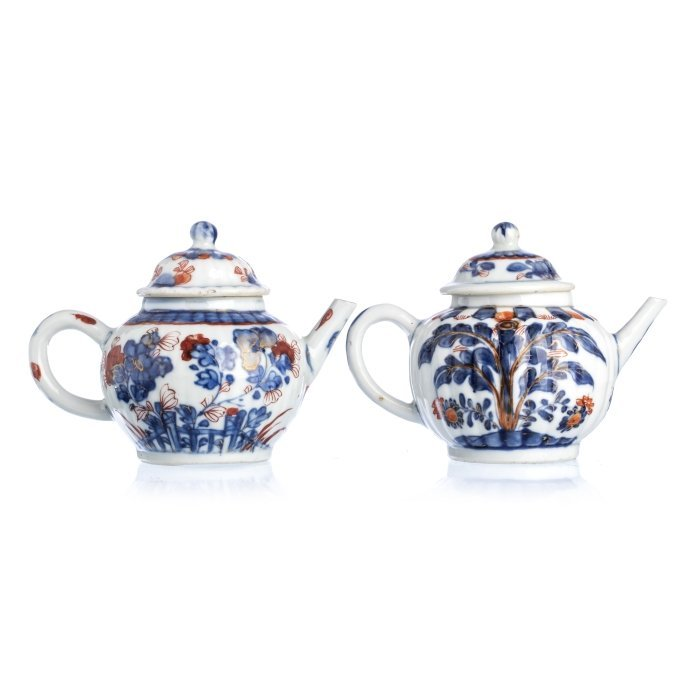 Two Chinese Porcelain 'Fenced landscape' Teapots,