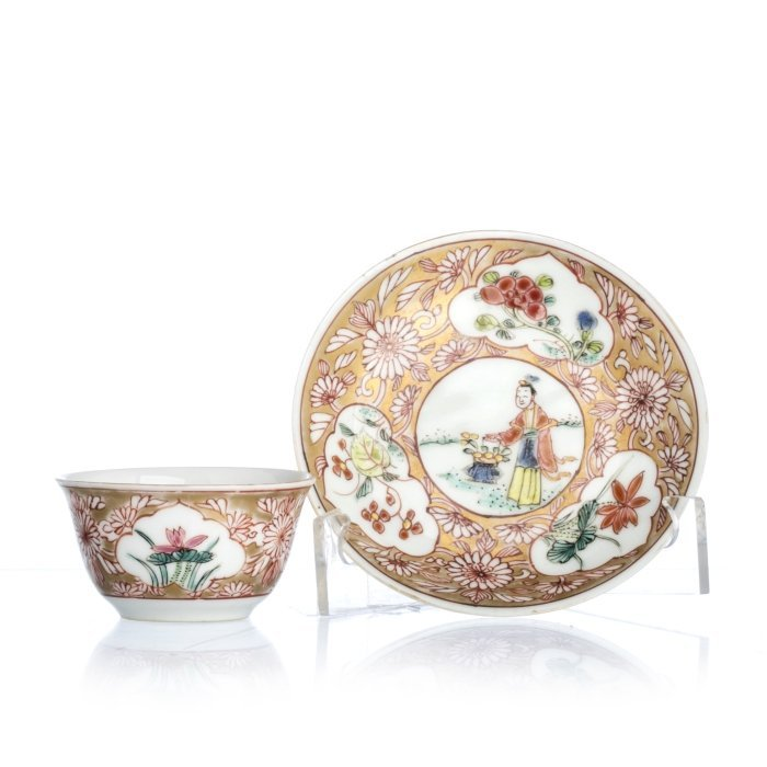 Chinese Porcelain Teacup and Saucer, Yongzheng