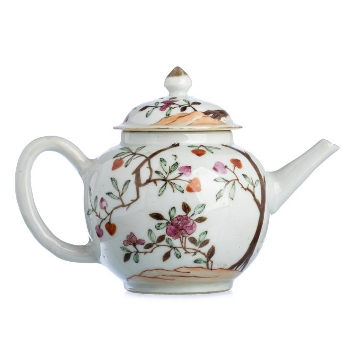 Teapot 'peach tree' China, Qianlong