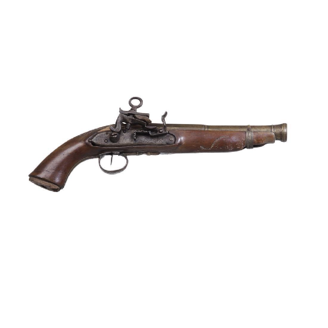 Portuguese flintlock pistol
