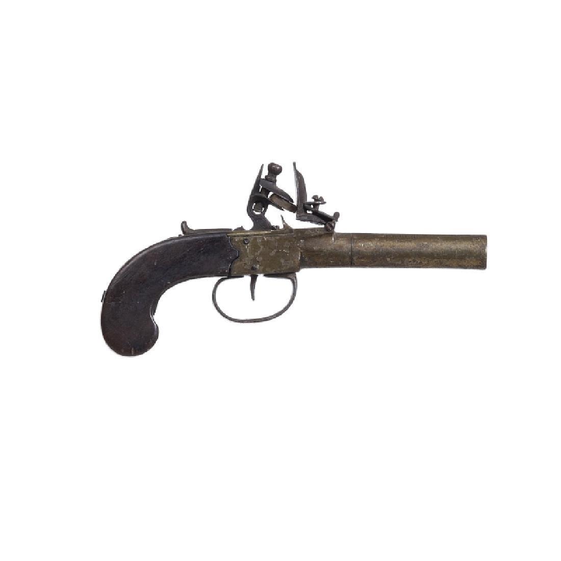 English flintlock pocket pistol