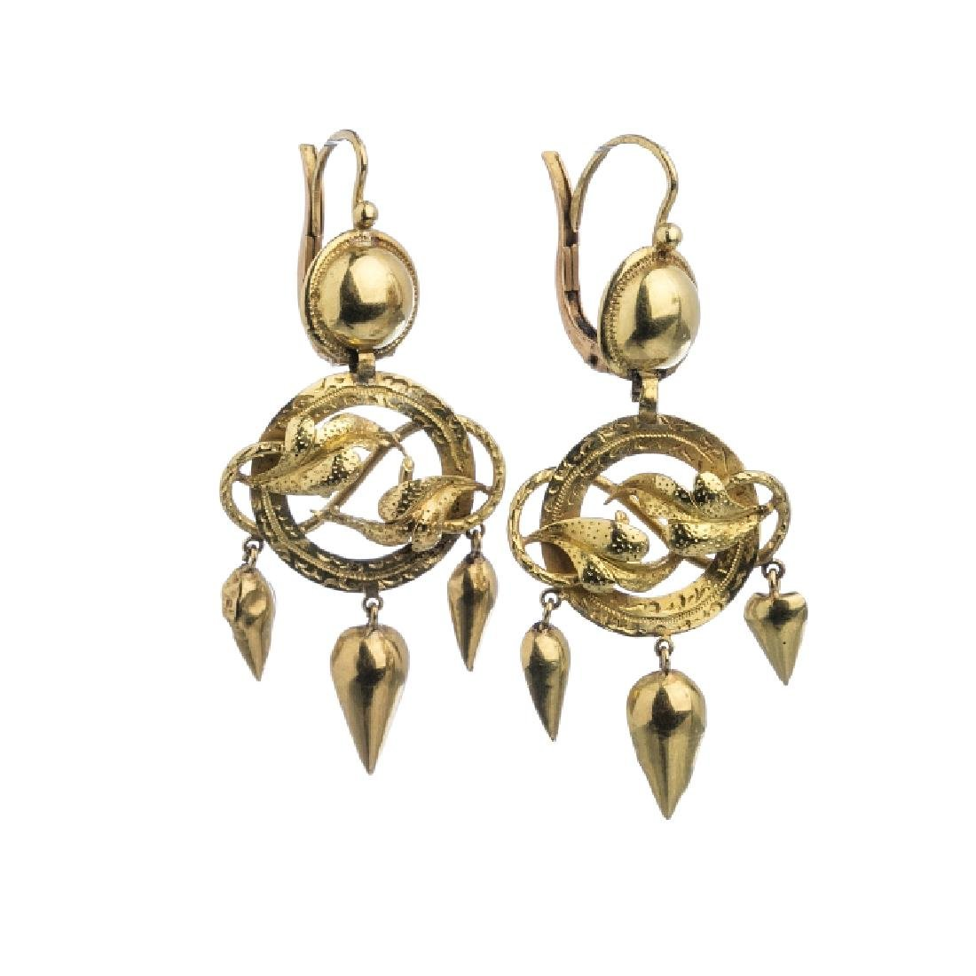 """Leaves"" gold earrings"
