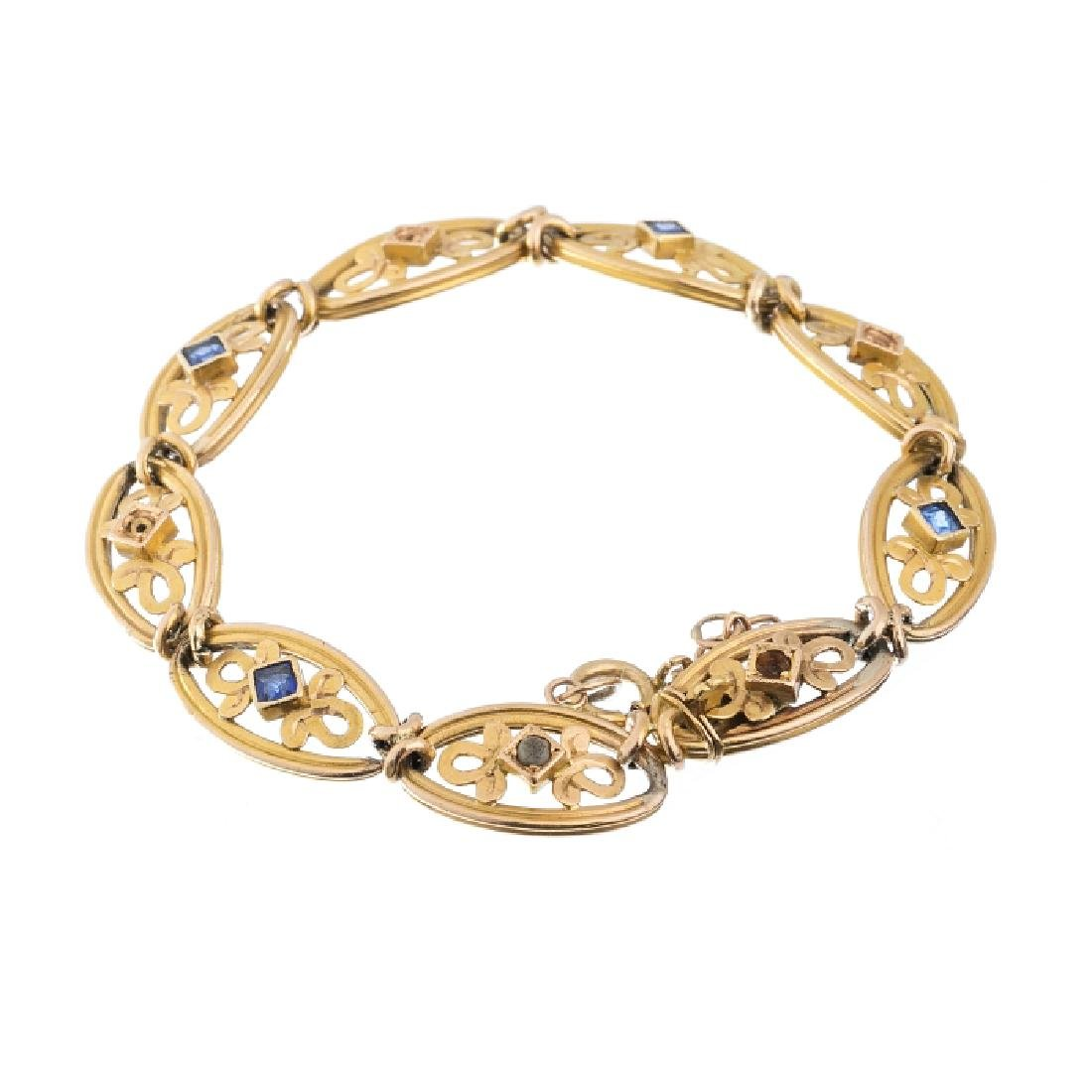 Gold bracelet with jewels