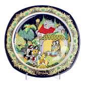 """BJORN WIINBLAD - """"Christmas 1983"""" plate in Rosenthal"""