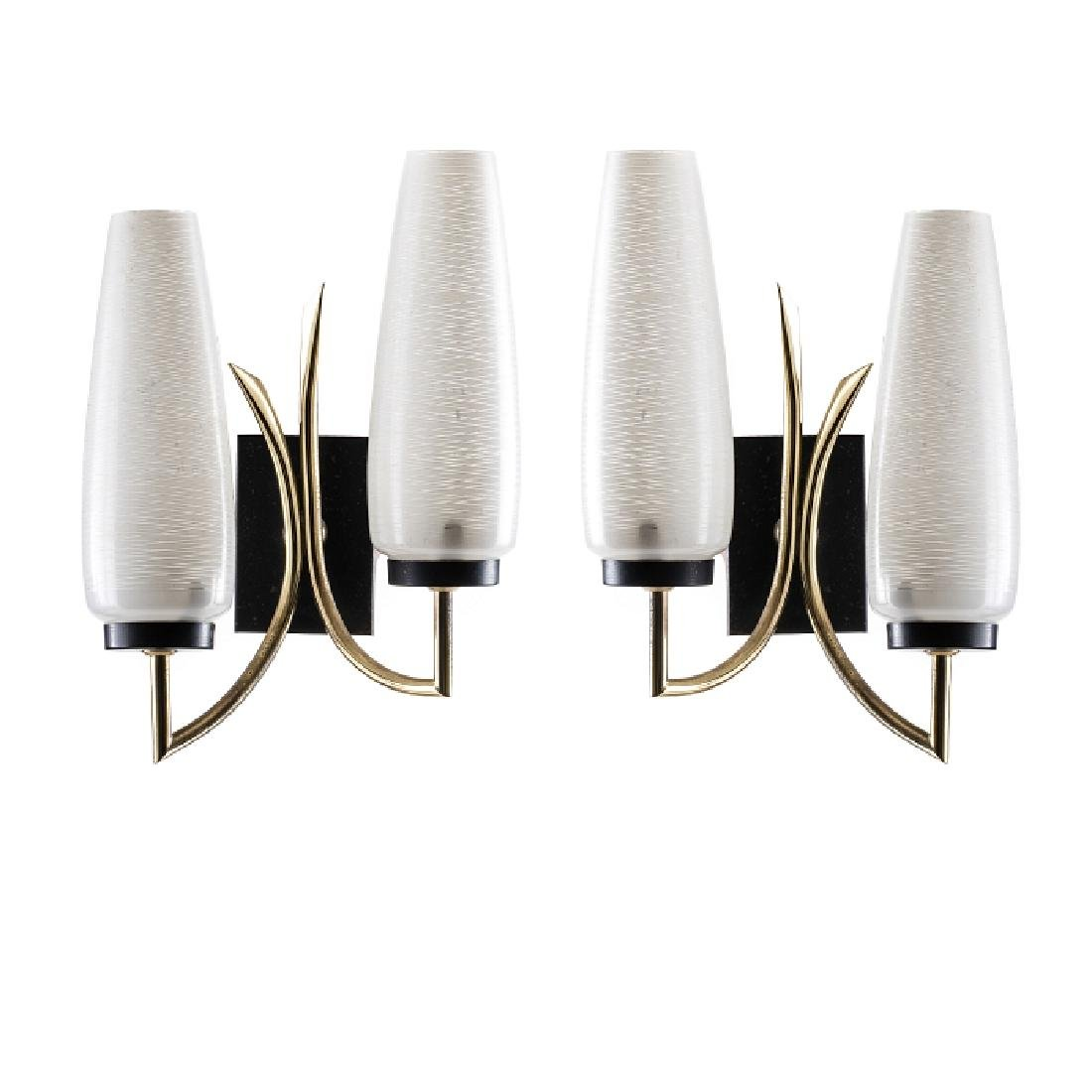 Pair of modernist wall appliques