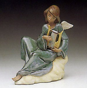 lladro angel con lira 2194 Heavenly spring