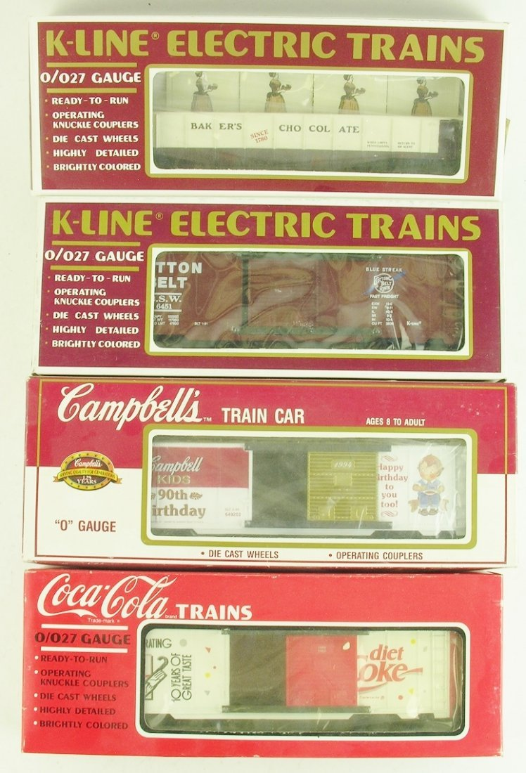 set of 4 K-LINE MODEL TRAIN