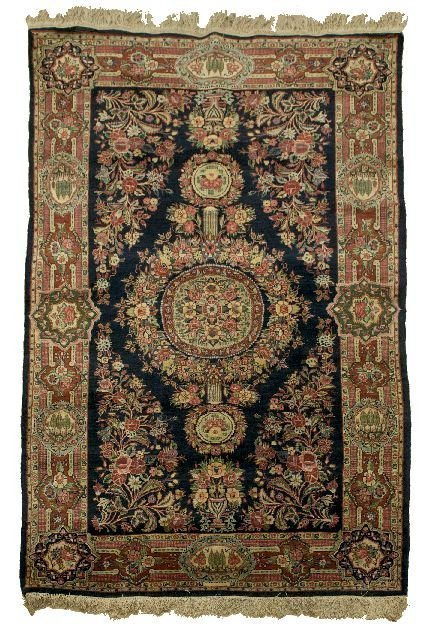 A QAZVIN Wool Rug, EARLY 1940'S Dimensions: 7' x 4'4""