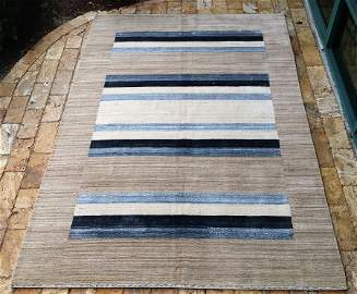 contemporary Indian hand made wool rug 9 ft x 12 ft