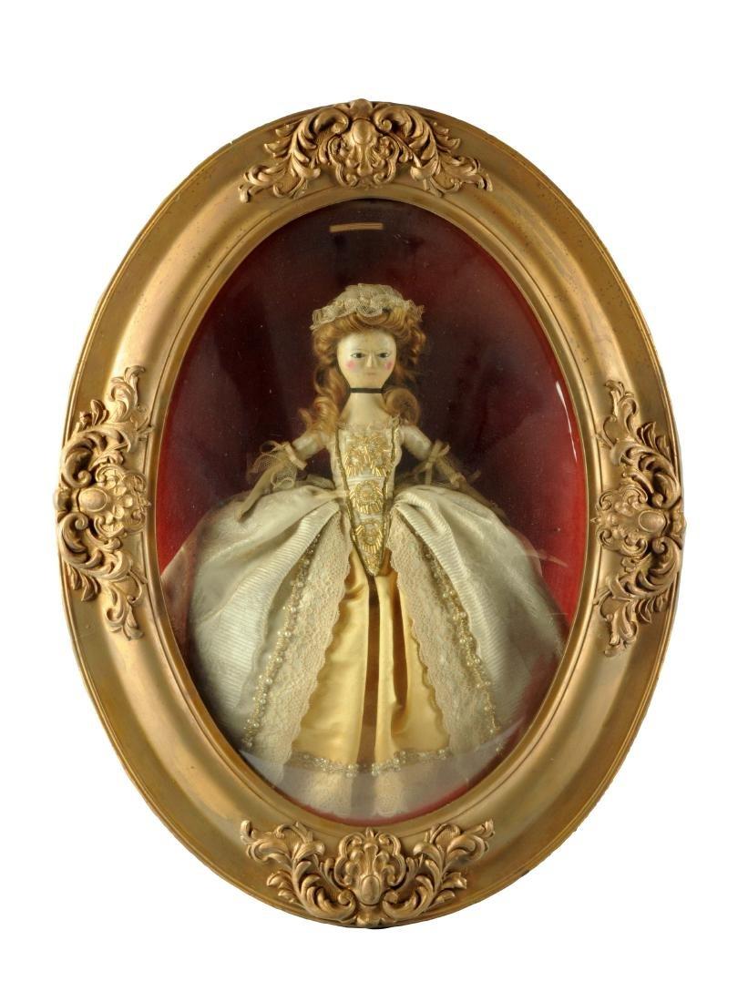 "14"" Queen Anne Doll w/ Glass Eyes."
