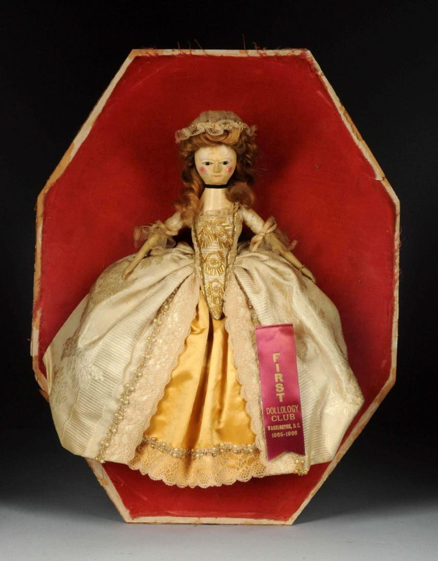"14"" Queen Anne Doll w/ Glass Eyes. - 2"