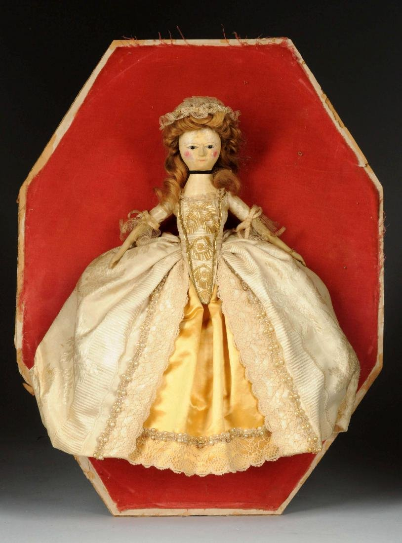 "14"" Queen Anne Doll w/ Glass Eyes. - 3"