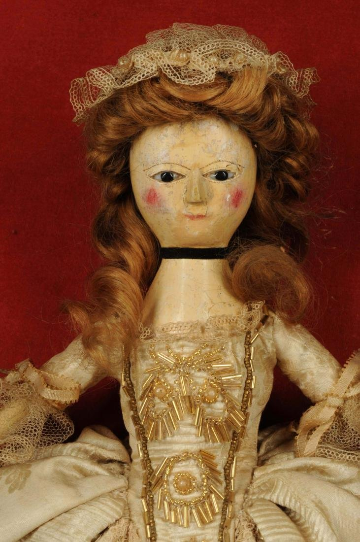 "14"" Queen Anne Doll w/ Glass Eyes. - 4"