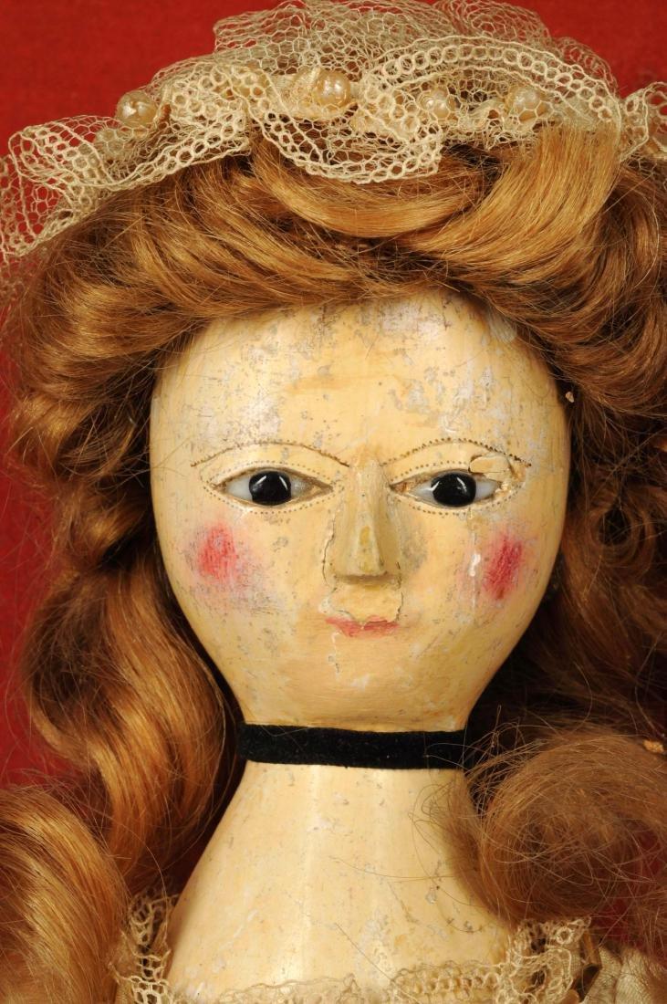 "14"" Queen Anne Doll w/ Glass Eyes. - 5"