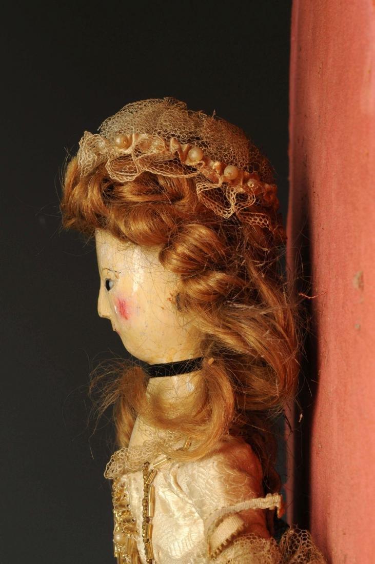 "14"" Queen Anne Doll w/ Glass Eyes. - 6"