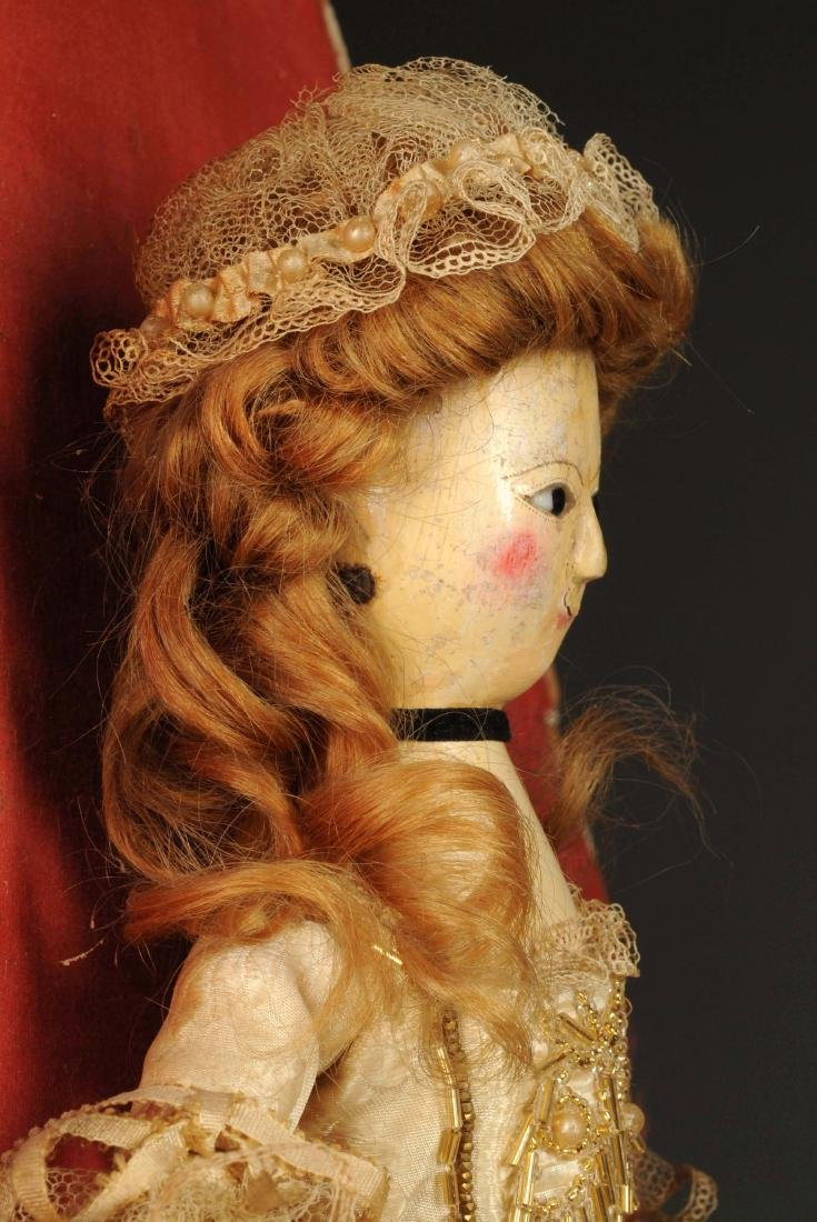 "14"" Queen Anne Doll w/ Glass Eyes. - 7"