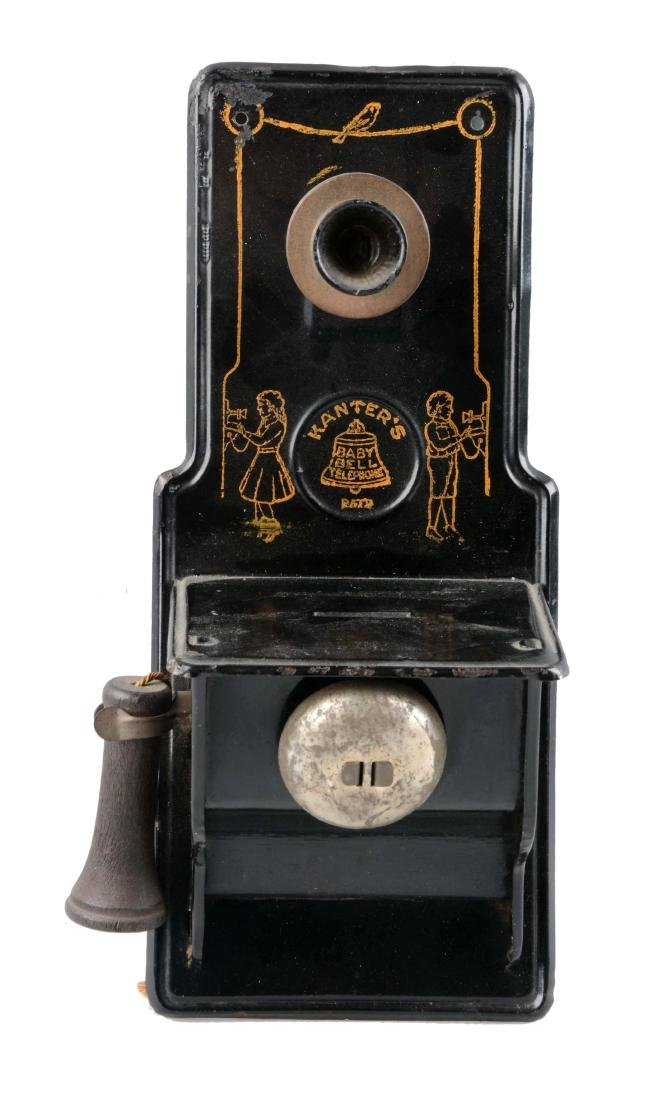 Tin Telephone Still Bank.