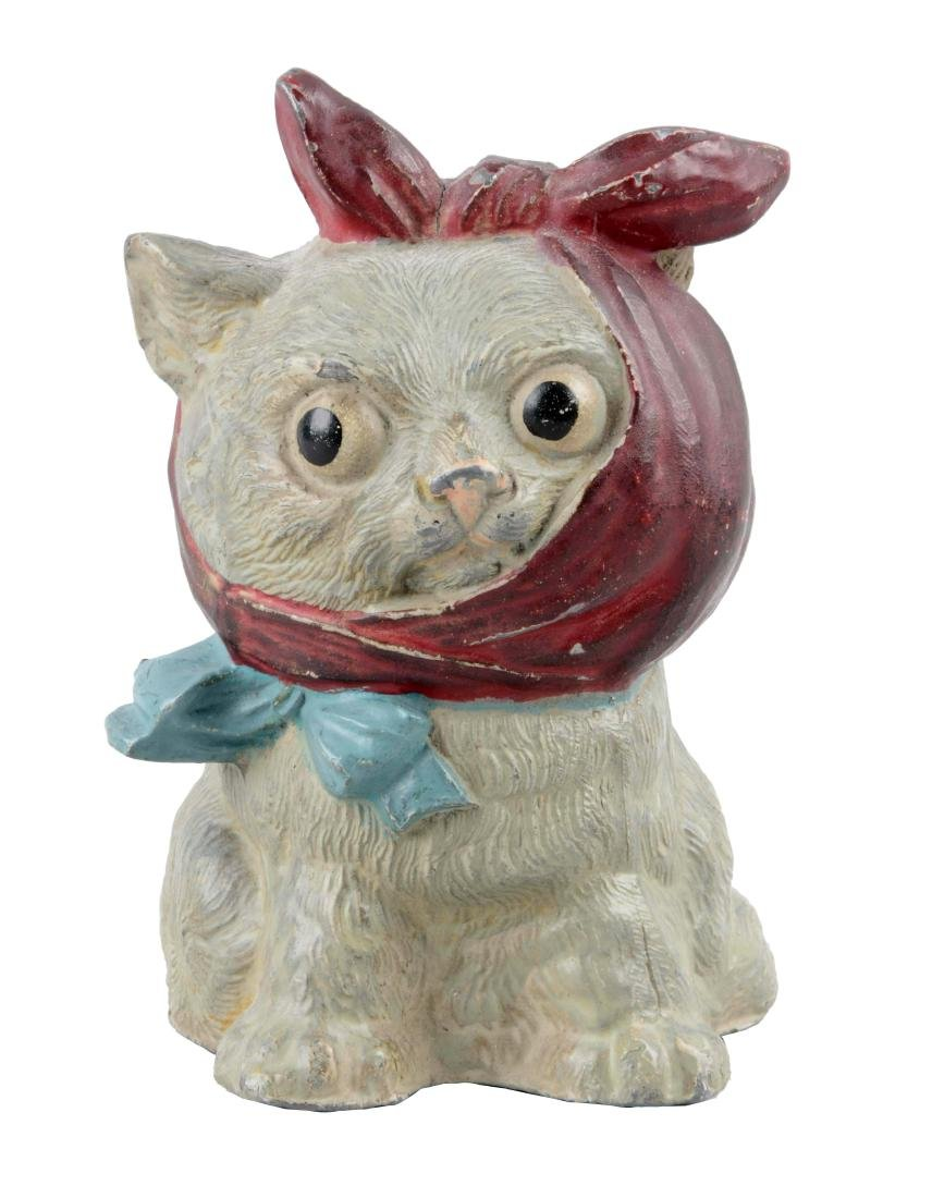 Diecast Cat with Toothache Still Bank.