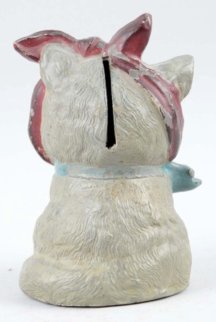 Diecast Cat with Toothache Still Bank. - 2